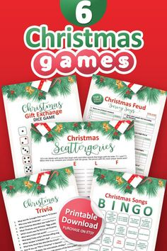 Interactive Christmas Games, Printable Christmas Games, Fun Christmas Games, Holiday Games, 1st Christmas, Christmas Gifts, Christmas Gift Exchange, Fun Projects For Kids, Ga In