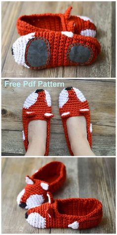 Latest Crochet Projects With Free Patterns - Latest ideas information - Wiezu Crochet Slipper Pattern, Crochet Fox, Crochet Slippers, Thread Crochet, Crochet Gifts, Cute Crochet, Christmas Crochet Patterns, Crochet Accessories, Crochet Designs