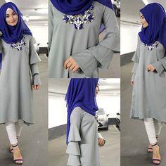 Image may contain: 2 people Abaya Fashion, Fashion Wear, Fashion Clothes, Fashion Outfits, Islamic Fashion, Muslim Fashion, Modest Fashion, Hijab Style, Hijab Chic