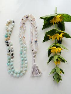 Agate and Amazonite Mala / 108 Beads