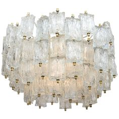 Vintage Multi-Tiered Barovier e Toso Murano Glass Chandelier | From a unique collection of antique and modern chandeliers and pendants at https://www.1stdibs.com/furniture/lighting/chandeliers-pendant-lights/
