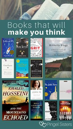 14 Books that Make You Think Differently Check out these books that will make you think. Whether you want to be smarter or simply to ponder on the deep questions of life, you can't go wrong with one of these books that make you think. Best Books To Read, I Love Books, My Books, Deep Books, Reading Books, Good Books To Read, Books To Read In Your 20s, Best Books Of All Time, Recommended Books To Read
