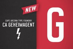 CA Geheimagent by Cape Arcona Type Foundry on @creativemarket