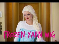 DIY Tutorial Yarn Wig Hair Disney Frozen Elsa Anna Braid Cosplay Wigs Children Kids Braids Costume - YouTube