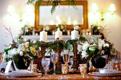 Beautiful Christmas Winter tablescape