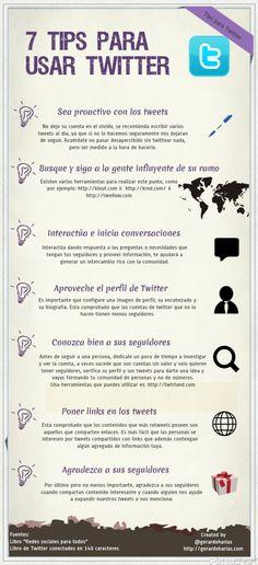 7 tips para usar Twitter #infografia #infographic #socialmedia