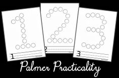 Do a Dot Free Printables | More free do a dot printables! Here are numbers 1-10. (To save or ...