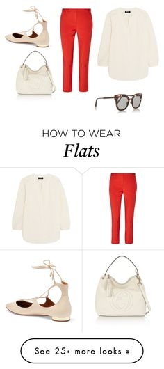 """Sin título #4602"" by ceciliaamuedo on Polyvore featuring A.P.C., TIBI, Aquazzura, Gucci and Bottega Veneta"
