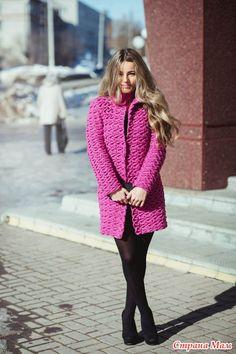 Пальто крючком Fuchsia (оно же Шарлиз) от Полины Крайновой