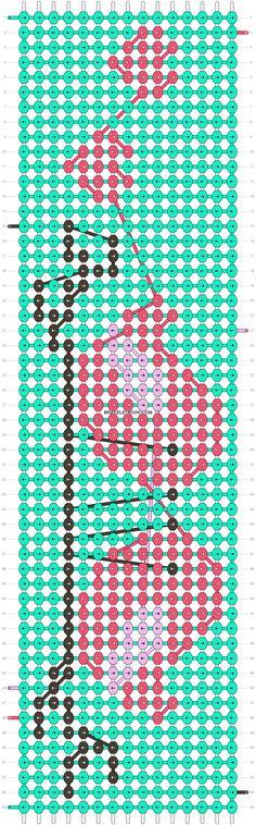 Alpha Friendship Bracelet Pattern #14478 - BraceletBook.com