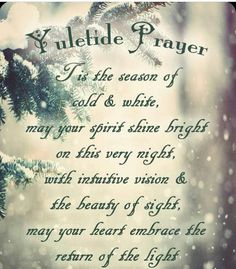winter solstice prayers and rituals