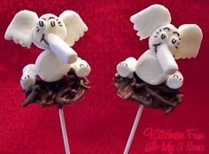 Horton Hatches the Egg Pops made with marshmallows!