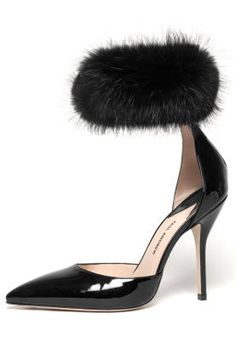 Fall and Winter Heels: Paul Andrew Silvetë Black Patent and Beaver Fur Heel