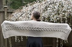 The crocheted cabled wrap is a free pattern!