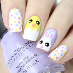 74 cute nail art designs for easter; cute easter nail art springnails cutenails easternails amazing designs of easter nails; Easter Nail Designs, Easter Nail Art, Cute Nail Art Designs, Baby Nail Art, Nail Design Spring, Spring Nail Art, Spring Nails, Cute Nails For Spring, Spring Art