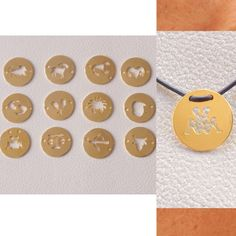 Zodiac Necklace Leather Horoscope Zodiac Necklace by BijouStore