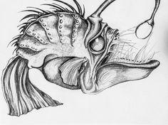 "Angler Fish Artwork Print 10"" x 14"""