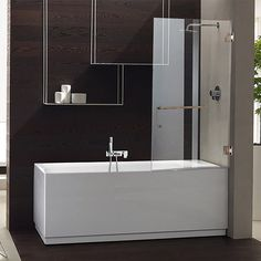 A Pivoting Bathtub Screen Is Ergonomic And Easy To Install. The Pivoting  Door Opens Outward