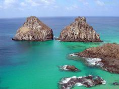 Brasil. Fernando de Noronha é um dos melhores lugares para a prática de mergulho do mundo.