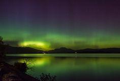 Northern Lights over Loch Lomond, October 2015