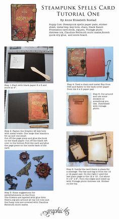 Steampunk Spells Card Tutorial One by Anne Elisabeth Rostad #graphic45 #tutorials