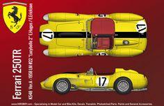 1:12 Ferrari 250 TR (Pontoon) Version B - Full Multi Media Kit