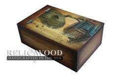 Vintage Phonograph Memory Box