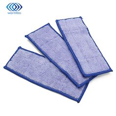 3Pcs Deep Clean Blue Microfiber Replacement Washable Wet Mopping Pads For Braava Jet 240 Cleaner #Affiliate