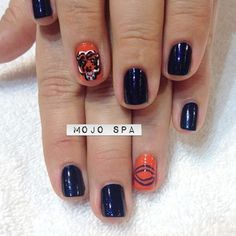 go bears nails by Mojo Spa #beauty #nails #nail_art #bears #beauty #manicure #mojospa #sport