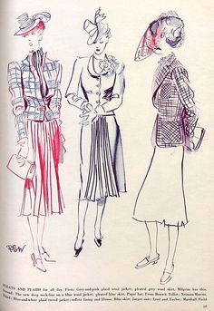 Spring fashions in Vogue, February 1939