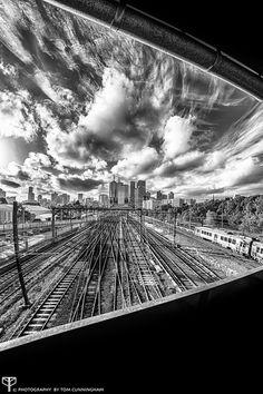 Black & White: Artery To The City http://500px.com/photo/48058980 ©Tom Cunningham   www.facebook.com/playingwiththecamera www.playingwiththecamera.com www.photographybytomcunningham.com