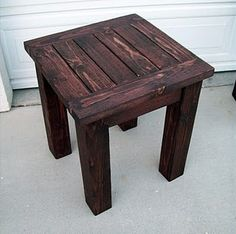 Side table pottery-barn knock off