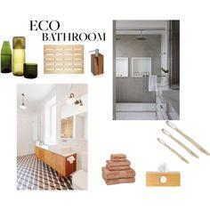 An eco bath Green Bathrooms, Eco Bathroom, Natural Living, Eco Friendly, Polyvore, Design, Natural Life