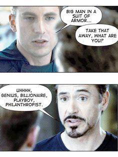 Steve Rogers vs Tony Stark