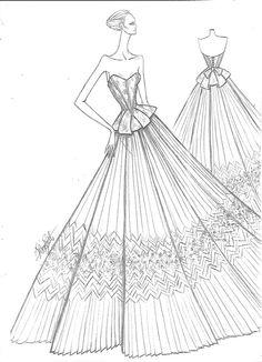 21 ideas for clothes illustration design dresses Dress Design Sketches, Fashion Design Sketchbook, Fashion Sketches, Dress Illustration, Fashion Illustration Dresses, Fashion Drawing Dresses, Iranian Women Fashion, Dress Drawing, Fashion Figures