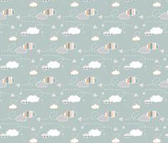puffsnplanes fabric by mrshervi on Spoonflower - custom fabric