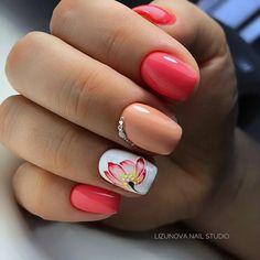 Great Ideas For Holiday Nails – NaiLovely Toe Nails, Pink Nails, Deco Orange, Easter Nail Art, Nail Decorations, Flower Nails, Beauty Nails, Summer Nails, Pretty Nails