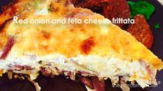 Red onion and feta cheese frittata – The Harcombe Diet Club