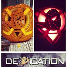 Anaheim Ducks Halloween pumpkin