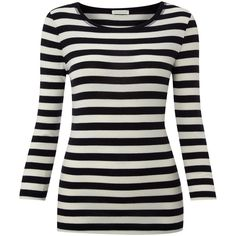Whistles Emilia pima stripe top ($32) found on Polyvore