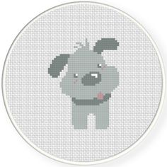 FREE for June 1st 2015 Only - Grey Puppy Cross Stitch Pattern