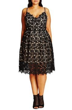 City Chic So Fancy Lace Dress (Plus Size) available at #Nordstrom