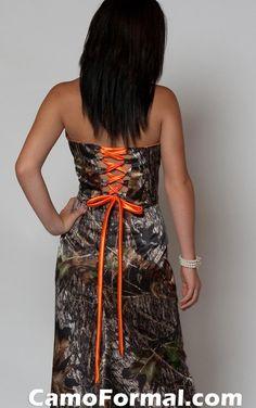 Camp and orange prom dress