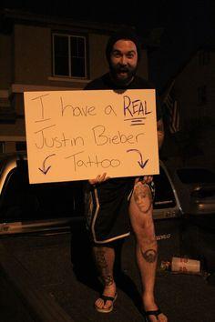 Real Justin Bieber tattoo