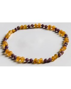 Raw Baltic Amber and Lepidolite CALMING Necklace -- THE SERENITY style 2