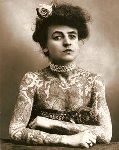 1911, Maud Wagner, Female Tattoo Artist