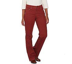 Denim & Co. Regular Slightly Boot Cut 5-Pocket Jeans