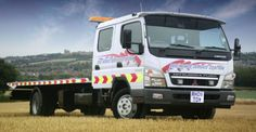 https://flic.kr/p/bqzCSC | Red House Service Station - RH08TOW | Mitsubishi Fuso Canter Crew-Cab. Roger Dyson Hydraloader Slidebed Recovery Truck.