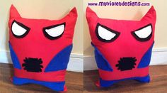 Almohadones de spiderman. myvioletdesigns.com