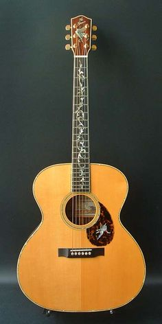 Greven The Prairie State Presentation (2004) : Tree of Life inlay. German Spruce top, Brazilian Rosewood back & sides.